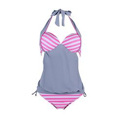 88038ba2e662a Introducing FeelinGirl Womens Stripes Lined Push Up Tankini Top Bikini  Swimwear XL. Get Your Ladies