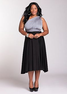 10 way color block dress from Ashley Stewart
