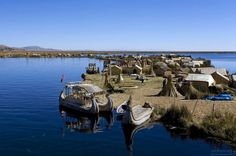 South America's largest lake on the border of Peru and Bolivia - Lake Titicaca