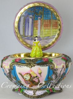 Disney Beauty and the Beast Music Box Belle Round Jewelry Box Princess & Trinket in Collectibles, Decorative Collectibles, Music Boxes | eBay