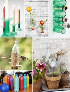 The recycled bottle terrarium combines the Earth Day project with the Mother's gift … - Diy Craft Ideas Recycled Crafts, Diy Crafts, Bottle Terrarium, Bottle Bottle, Terrariums, Earth Day Projects, Do It Yourself Inspiration, Plastic Bottle Crafts, Plastic Recycling