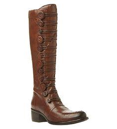 BERTIE Pixie buttoned knee-high boots (Tan)