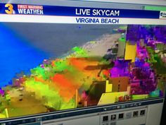 IT GOT too hot even for our beach cam. It went rainbow and then died. #hottestdayoftheyear