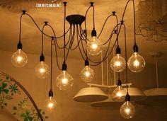 Vintage Ajustable DIY Ceiling Lamp Light Pendant Lighting Edison Home Decoration