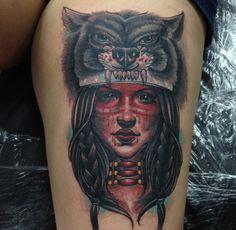 Tatuajes de indios y lobos - https://www.tatuantes.com/tatuajes-de-indios-y-lobos/ #tattoo