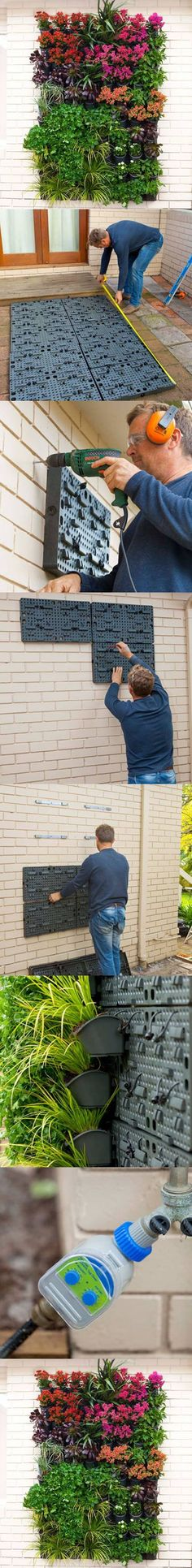 Step by Step Tutorial for a Vertical Garden