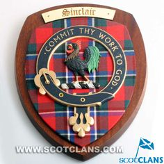 Extra Large Sinclair Clan Crest Wall Plaque