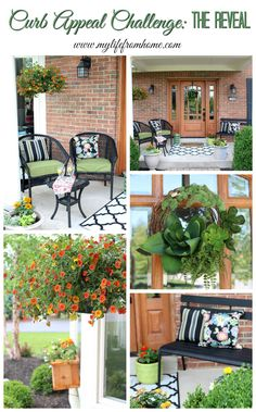 Design challenge to give my house much needed Curb Appeal! Come see the Challenge complete and The big Reveal! by www.mylifefromhome.com | curb appeal | curb appeal ideas | front porch | outdoors | styling outdoors | gardening | landscape lighting