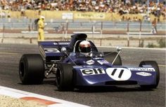 Jackie Stewart driving his Tyrrell-Ford to win the 1971 French Grand Prix at the new Paul Ricard circuit