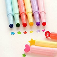 Amazon.com : KitMax (TM) Pack of 12 Pcs Cute Cool Novelty Candy Color Seal Pen Tip Highlighter Office School Supplies Students Children Gift (Color May Vary) : Office Products