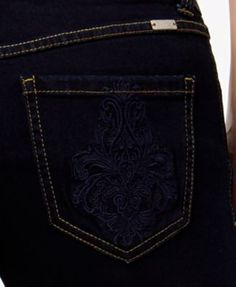 Inc International Concepts Embroidered Curvy Cropped Jeans, Only at Macy's - Blue 10