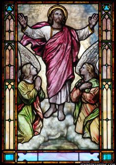 Lessons From the Divine Office of the Ascension of Our Lord Jesus Christ: Sermon 1 on the Ascension of the Lord by St. Leo the Pope Stained Glass Church, Stained Glass Paint, Stained Glass Windows, Religious Pictures, Jesus Pictures, Religious Art, Jesus Christ Images, Jesus Art, Spiritual Images