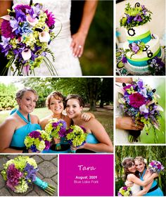 Image detail for -Tara's bold and bright wedding flowers in shades of purple, blue, and ...