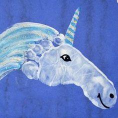 footprint unicorn Más kids crafts 25 Magical Unicorn Crafts for Kids Daycare Crafts, Baby Crafts, Toddler Crafts, Crafts To Do, Preschool Crafts, Arts And Crafts, Children Crafts, Crafts For Babies, Infant Crafts