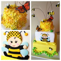 - Bumble Bee Baby Shower Cake