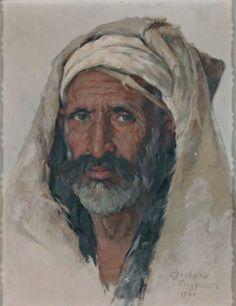 Emile DECKERS (1885-1968) Portrait d'homme algérien