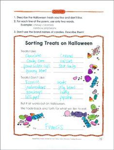 Sorting Treats on Halloween: Poetry Frame