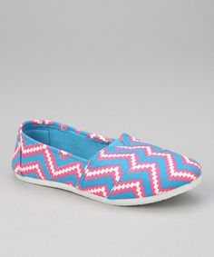 Look at this Chatties Fuchsia Zigzag Slip-On Shoe on #zulily today!