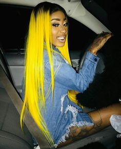 Preferred Hair Yellow Ombre Long Straight Wig of Human Hair with Baby Hair Brazilian Lace Front Wig for Women Frontal Hairstyles, Baddie Hairstyles, My Hairstyle, Black Girls Hairstyles, Weave Hairstyles, Straight Hairstyles, Hair Colorful, Curly Hair Styles, Natural Hair Styles