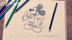 Step By Step Mickey Mouse Drawing Full Body Easy Drawings, Pencil Drawings, Mickey Mouse Drawings, Step By Step Drawing, Drawing Techniques, Full Body, Apartment Ideas, Sketches, Drawings