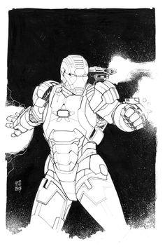 Iron Patriot Inked by Hodges-Art.deviantart.com on @deviantART