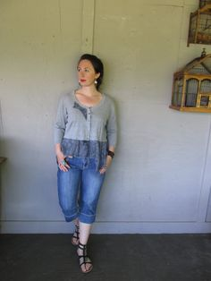 Upcycled clothing Romantic cropped sweater by lillienoradrygoods