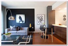 living #room #Black #Wall #Modern