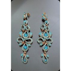 Beautiful Chandelier Antique Blue earrings made with Swarovski Elements Blue Earrings, Drop Earrings, Beautiful Things, Swarovski, Chandelier, Jewels, Antiques, Happy, How To Make