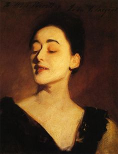 Flora Priestley (also known as Lamplight Study) - John Singer Sargent