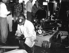 Taking a break on-set of The Fly