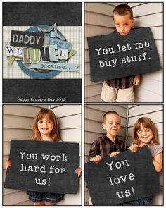 Father's Day printable- have students tell what they love best about their dad, write it down and take pic of them holding it