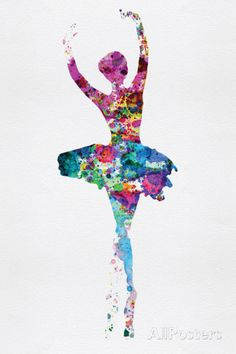 Ballerina Watercolor 1 Wall sign by Irina March at AllPosters.com