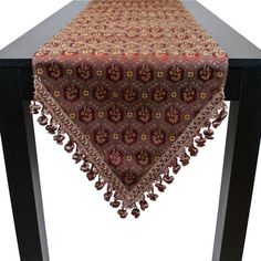 Sherry Kline Midwick Table Runner Size: W x L Dinning Table, Dining Rooms, Table Runner Size, Tab Curtains, Table Centers, Linens And Lace, Curtain Designs, Quilted Pillow, Creative Crafts
