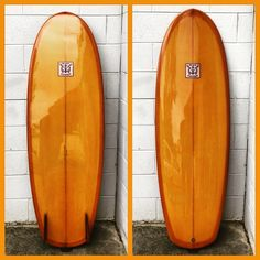 """5'6 x 21 1/4"""" x 2 5/8"""" mini simmons deluxe. amber tint cutlap, matching two tone amber fins, full gloss and polish for TK"""