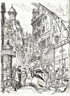 Paris Sketchbook Ronald Searle - Google Search