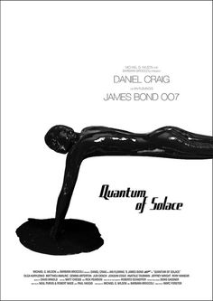 Quantum of Solace (2008) - Minimal Movie Poster by Owain Wilson ~ #minimalmovieposter #alternativemovieposter #owainwilson