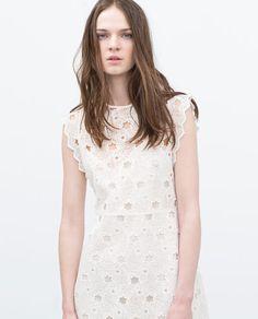 Kleid aus Guipure-Spitze mit Sternenmuster