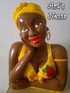 Art's Nêssa - Artesanato: Namoradeira turbante grande (amarela)