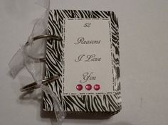 Items similar to 52 Reasons I Love You - Animal Print - Zebra Giraffe Leopard on Etsy Cute Crafts, Creative Crafts, Book Journal, Journals, 52 Reasons Why I Love You, Brunch Decor, Do It Yourself Projects, Deck Of Cards, Craft Ideas