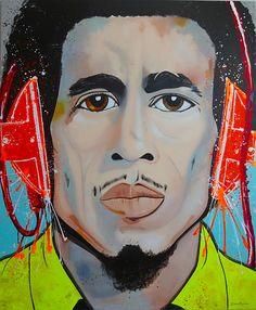 Bob Marley  #art #color #pintura #reggae