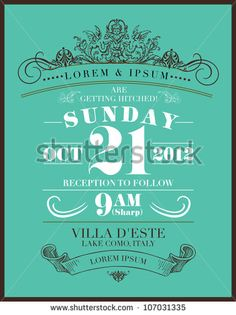 save the date wedding invitation template vector/illustration