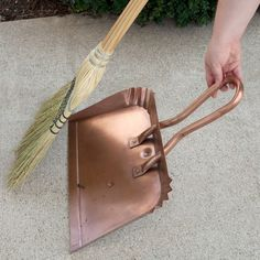 Large Copper Dust Pan by Nottingham Brass. $79.95. Keep your home spotless with the help of the Large Copper Dust Pan. The oversized design assures maximum coverage when cleaning up ash and bits of kindling from your hearth, or when sweeping up around the house. It's slender enough to tuck away in your broom closet, but the Antique Copper finish means it's also attractive enough to be displayed decoratively. Made of solid copper. Antique Copper finish. Overall dimensions: 16-7/...