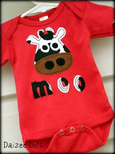 Fabric Applique TEMPLATE Pattern ONLY Cow And Moo Saying