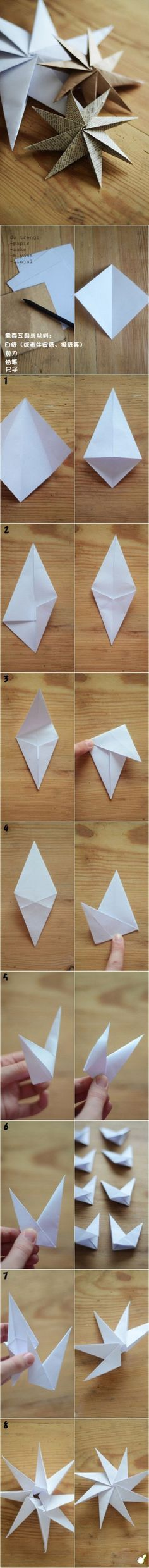 DIY Paper Stars diy craft crafts craft ideas / easy paper crafts ideas (Just follow along with this photo instructions)