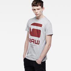 G-Star RAW | Men | 新着アイテム | Resap Short Sleeve T-shirt , Grey Heather