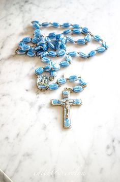 RARE Vintage Legatura Brevetto Rosary Our Lady by edithandevelyn