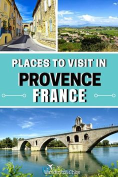 Places to visit in Provence, France. You'll want to tour Provence in France after seeing its stunning rustic towers, impressive chateaus, vineyards and rolling countryside. #provence #france #avignon #photography #travelphotography #architecture