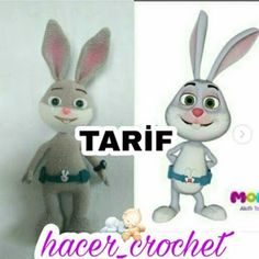 TAVŞAN MOMO TARİFİ Snowman, Bunny, Christmas Ornaments, Disney Characters, Holiday Decor, Crochet, Blog, Instagram, Hare