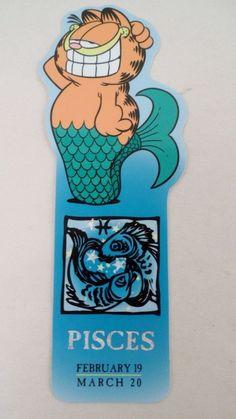 Garfield Horoscope Pisces Feb 19 March 20 Zodiac Fish Sign Astrology Bookmark