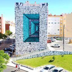 Loures, Portogallo: nuovo pezzo realizzato dallo street artist francese Astro ODV per il LOURES ARTE PUBLICA.